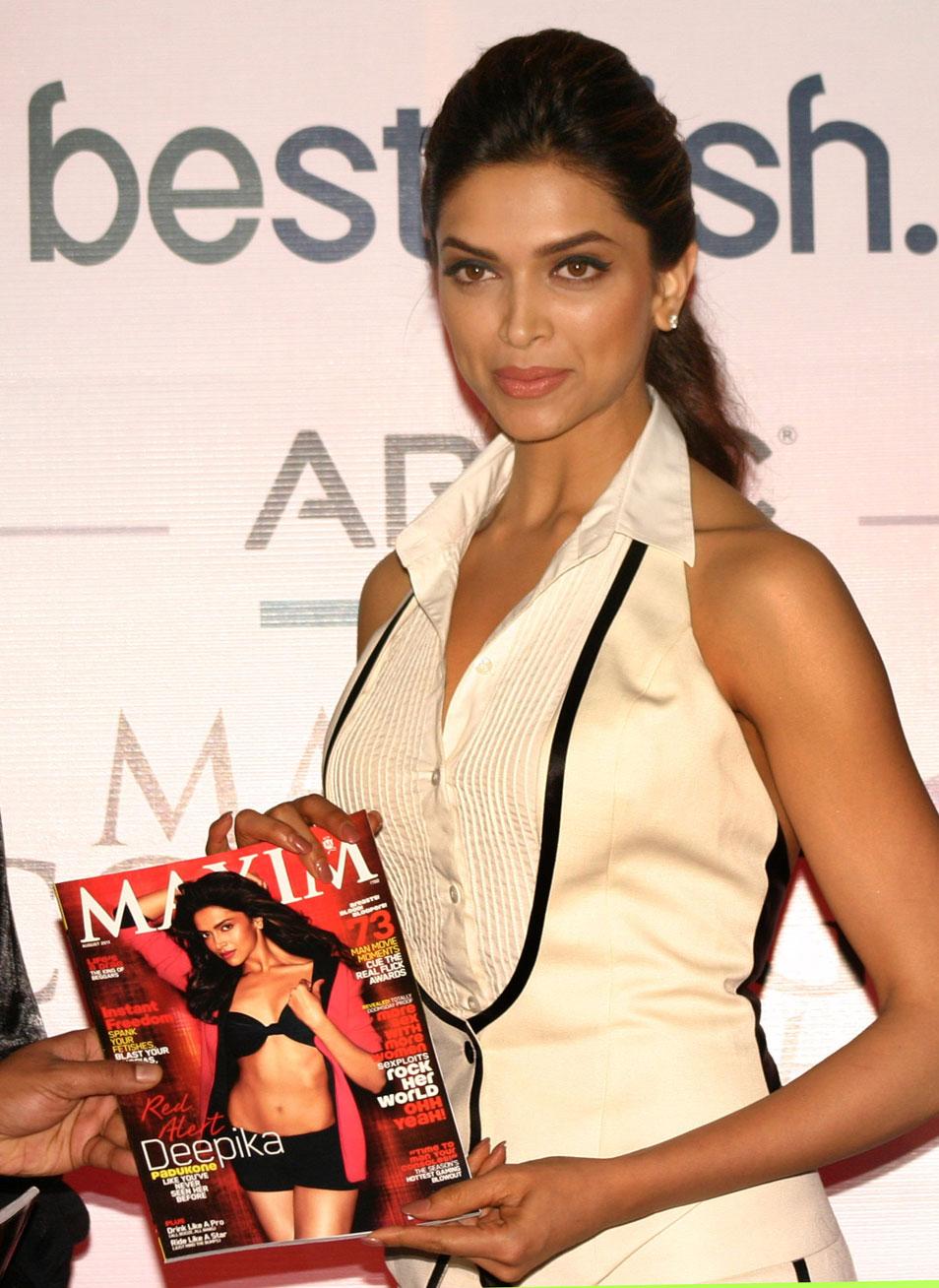Deepika Padukone With Maxim Magazine Issue Photo