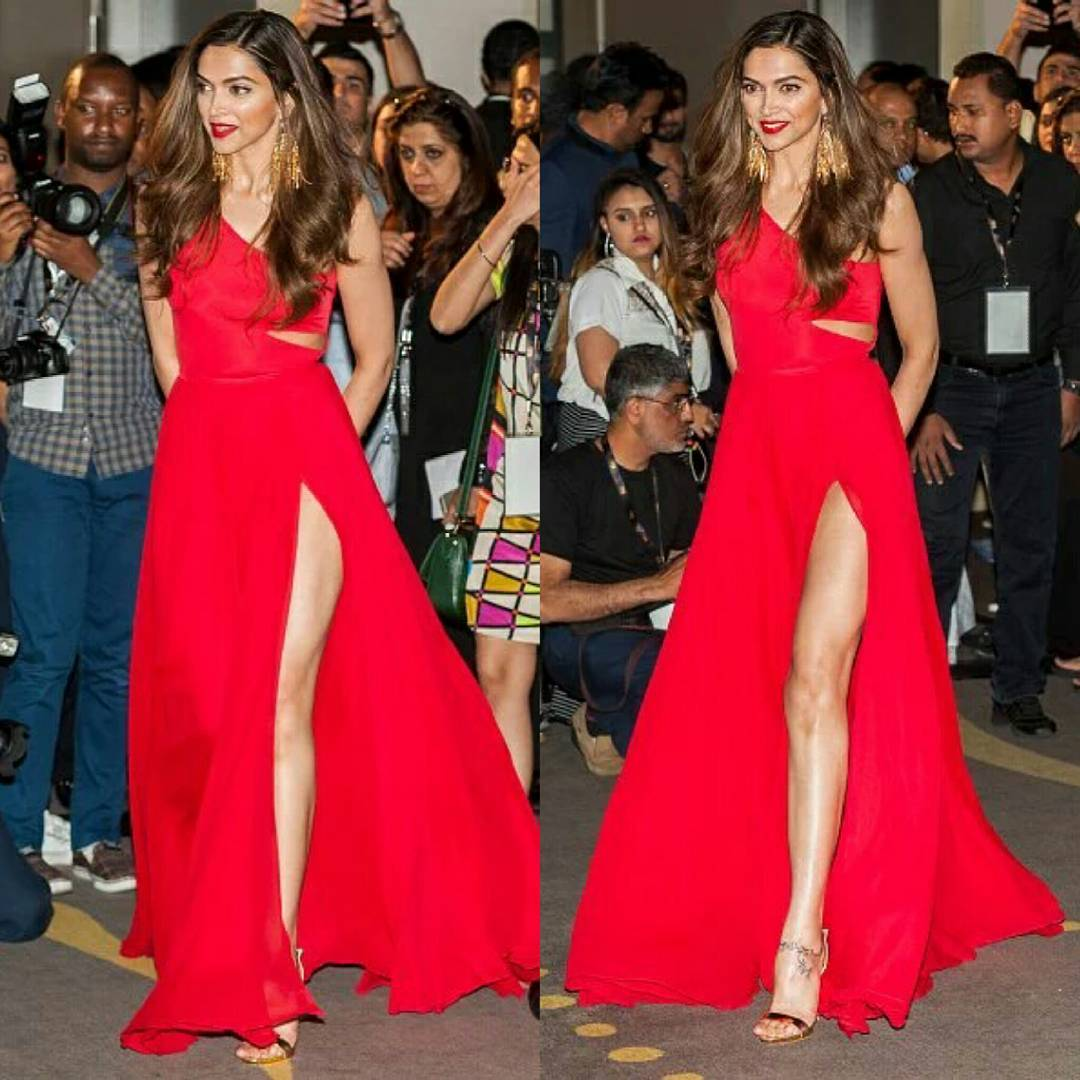 Deepika Padukone Looks stunning in red gown by Prabal gurung at IIFA 2016