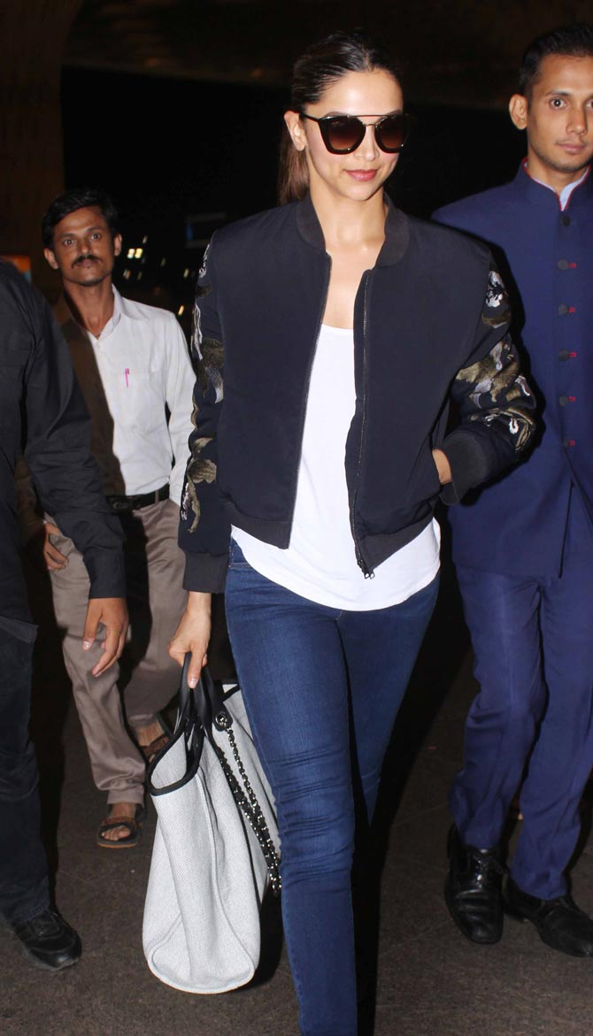 Deepika Padukone, Neha Dhupia and Kainaat Arora Snapped at Mumbai Airport
