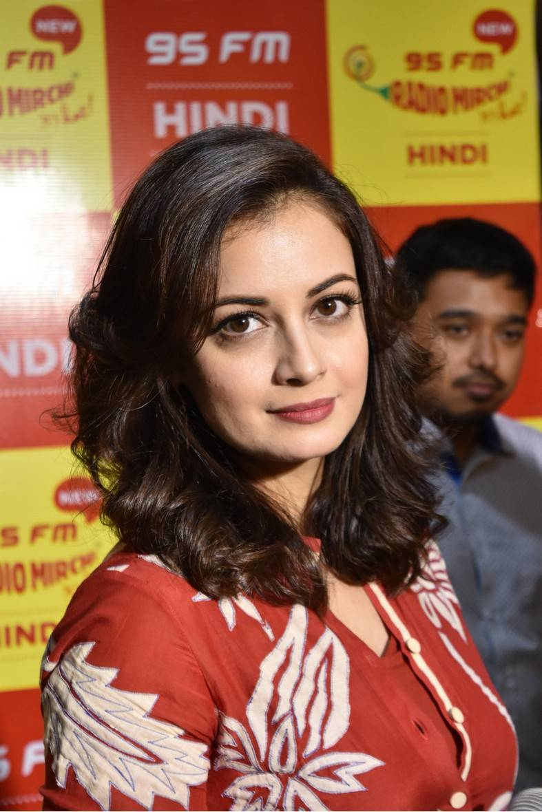 Dia Mirza At Radio Mirchi FM Studio in Hyderabad