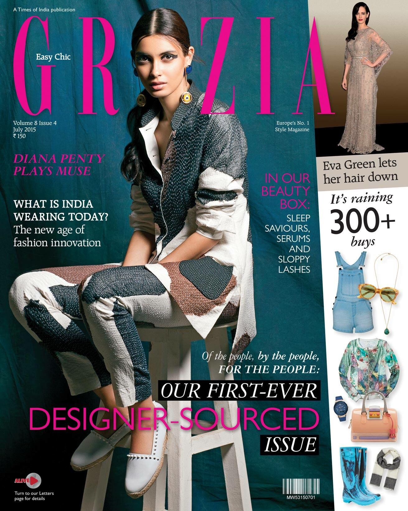 Diana Penty Photoshoot for GRAZIA Magazine July 2015