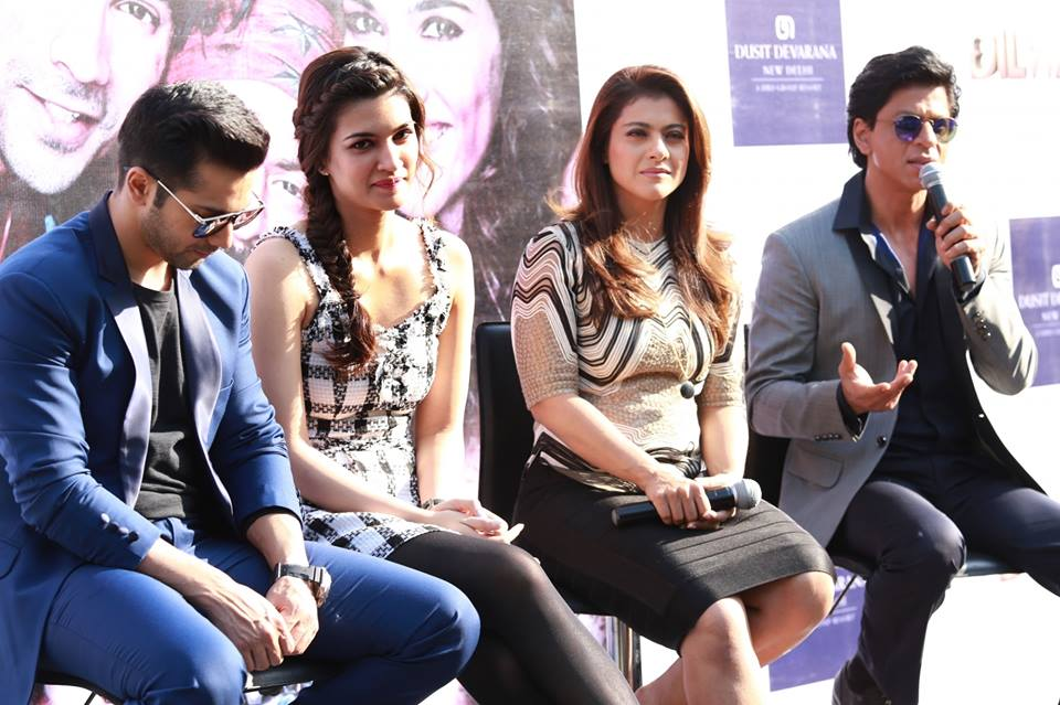 Dilwale Team Promote Movie in Delhi