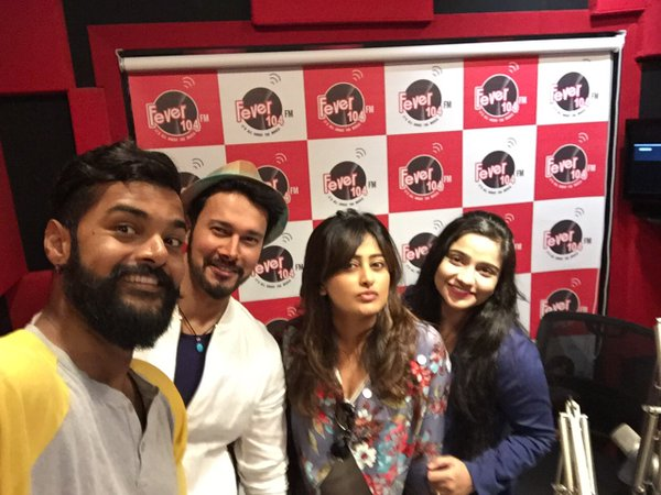 Direct Ishq :  Rajniesh Duggall & Nidhi Subbaiah at Fever 104 FM Studio