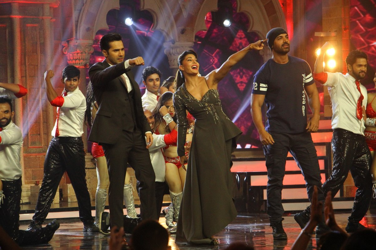Dishoom cast on the sets of Indias Got Talent 7 final