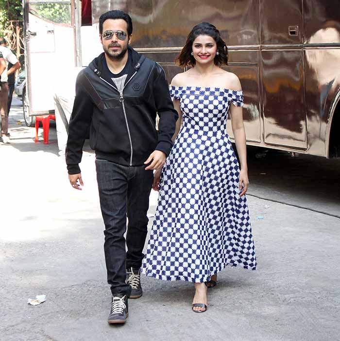 Emraan Hashmi and Prachi Desai promote film Azhar at Filmistan Studio