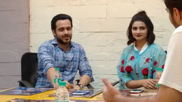 Emraan Hashmi and Prachi Desai Promoted Azhar Movie at Super Cinema Office