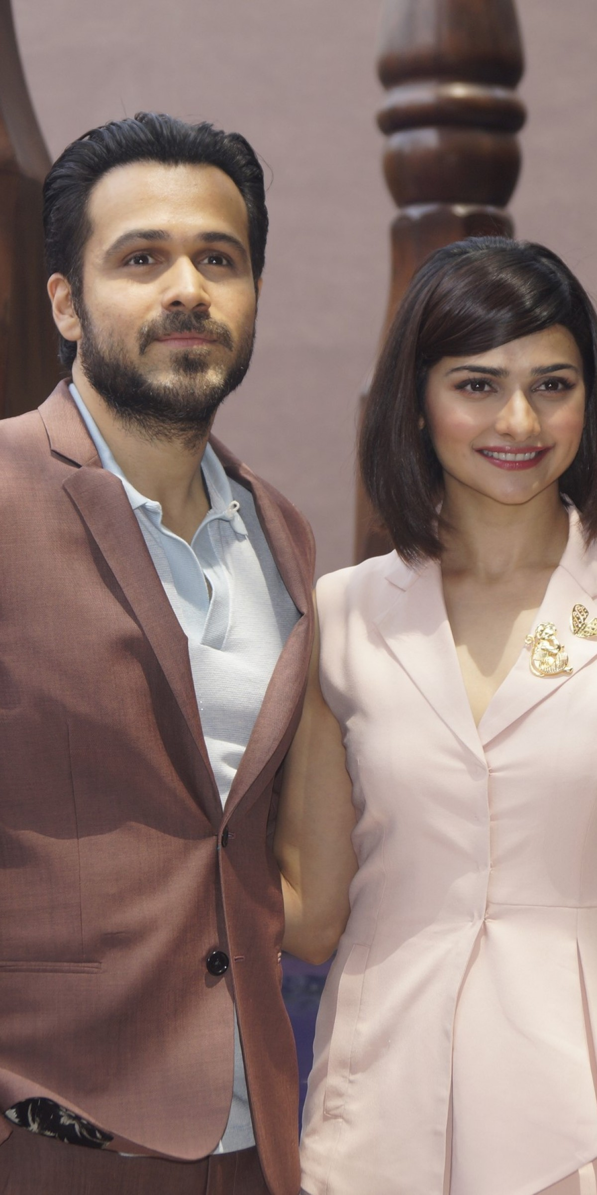 Emraan Hashmi and Prachi Desai Promotion of film Azhar in New Delhi