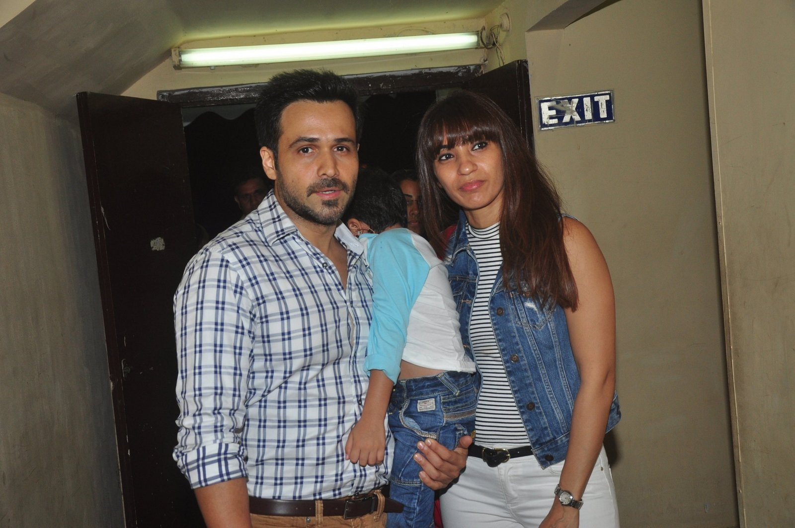 Emraan Hashmi With Wife & Son Special Screening of Hamari Adhuri Kahani