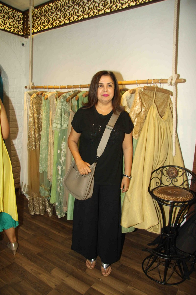 Farah Khan and Bhagyashree at Bhumika Store Launch
