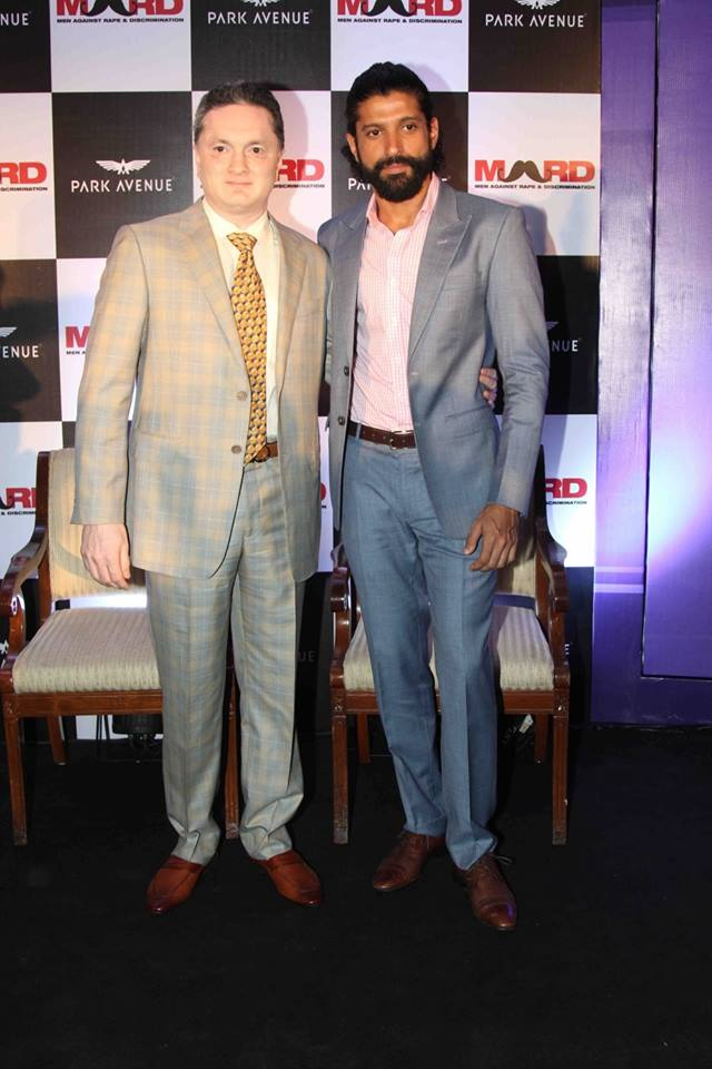 Farhan Akhtar Launches Park Avenue Deodorant in Mumbai