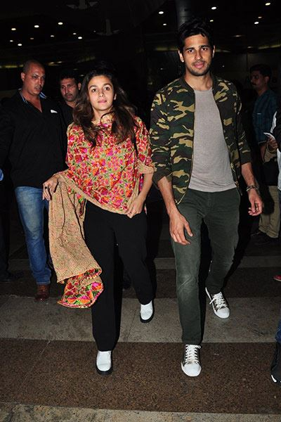 Fawad, Alia and Sidharth Spotted at the Mumbai Airport