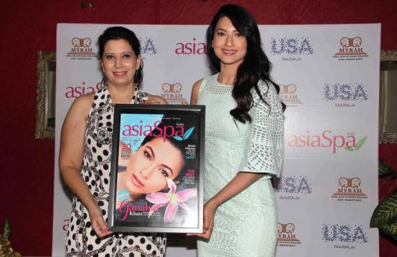 Parineeta Sethi, Chief Editor, Asia Spa India and Bollywood actor Gauhar Khan