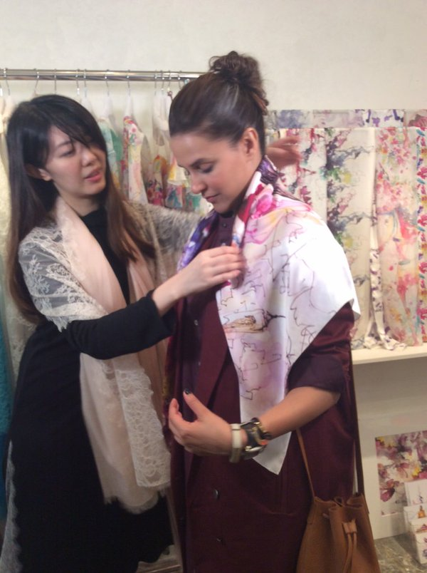 Hong Kong : Neha Dhupia at a very famous Chailie Ho Fashion Studio in PMQ