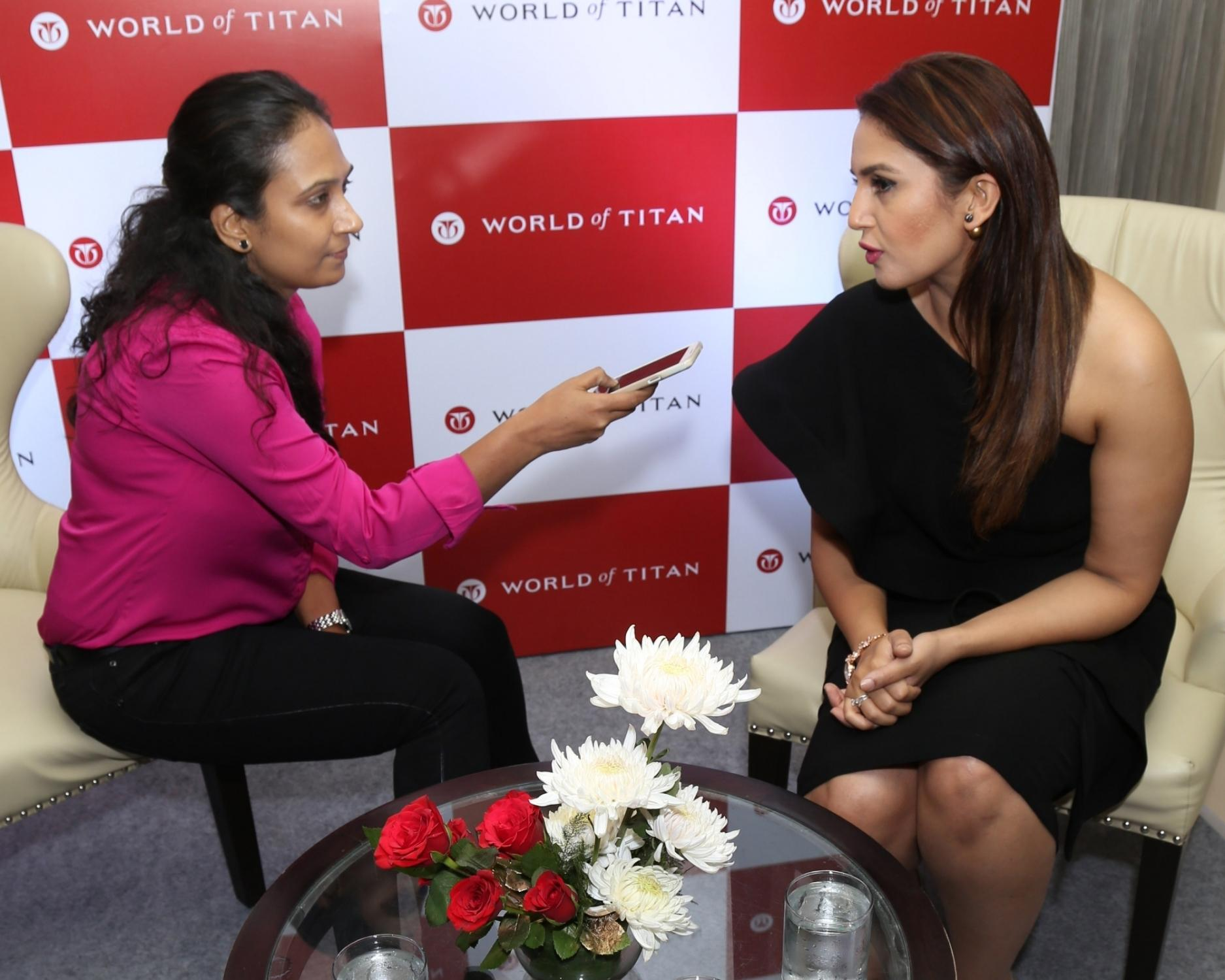 Huma Qureshi Launch Moonlight Collection by Titan Raga in New Delhi