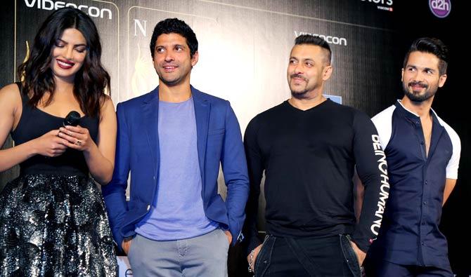 Priyanka Chopra, Farhan Akhtar, Salman Khan & Shahid Kapoor