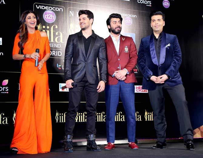 Shilpa Shetty, Karan Johar, Sooraj Pancholi & Fawad Khan