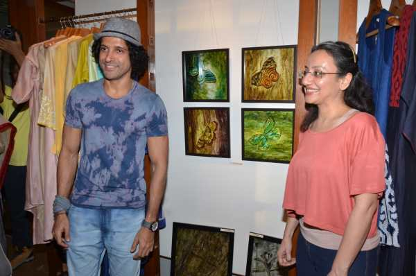 International Womens Day : Farhan Akhtar attend Art exhibition by 16 Female Artist in Mumbai