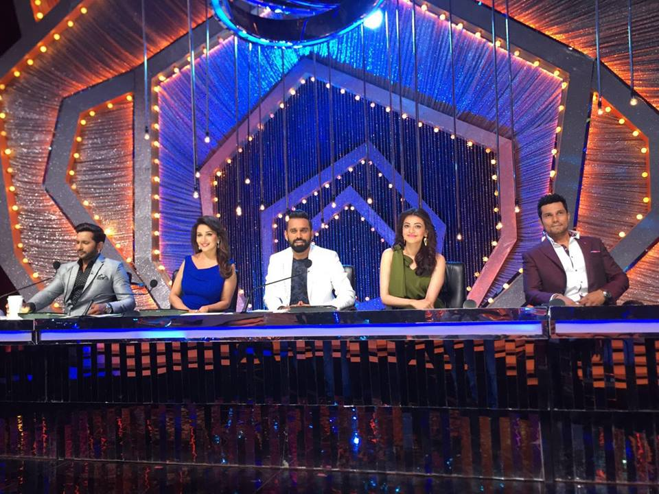 Kajal and Randeep on the sets of So You Think You Can Dance Show
