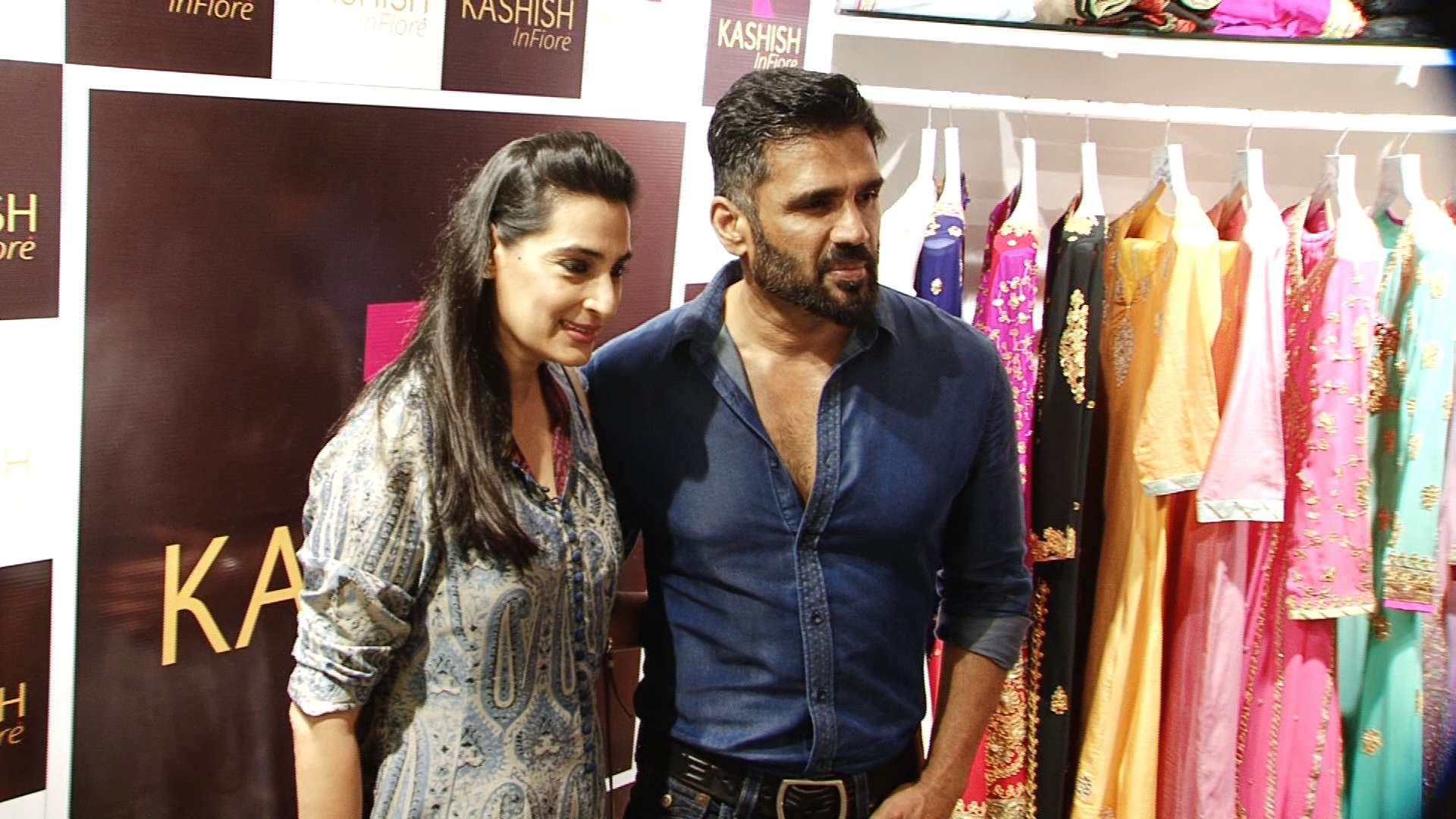 Image result for sunil shetty with wife