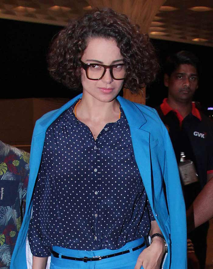 Kangana Ranaut Spotted at The Mumbai International Airport