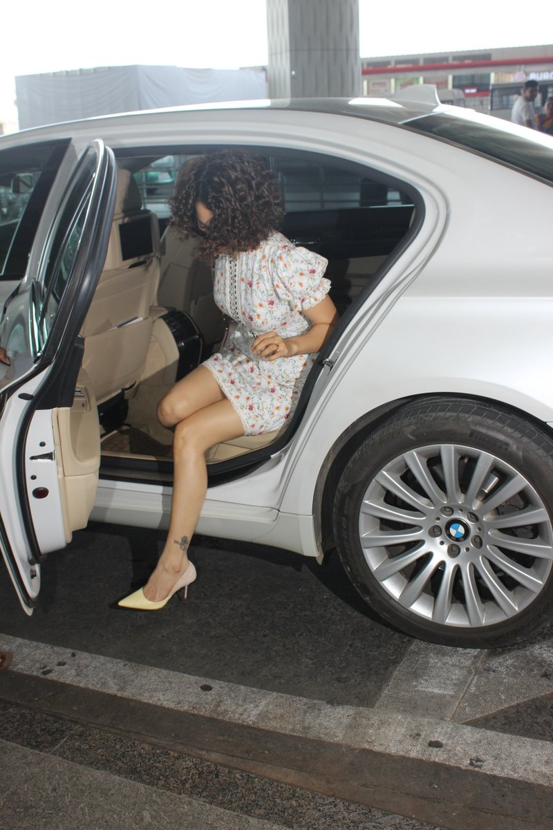 Kangana spotted at airport