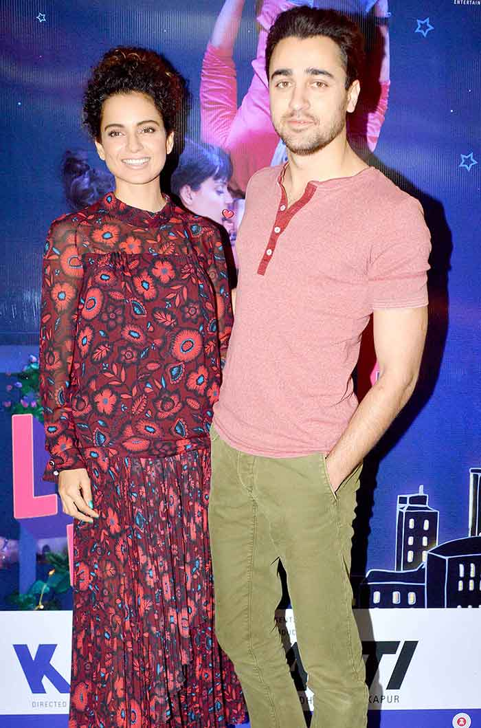 Kangna Ranaut & Imraan Khan At Katti Batti Promotion Photos