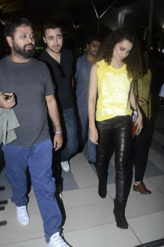 Kangna Ranaut & Imran Khan Snapped at Airport