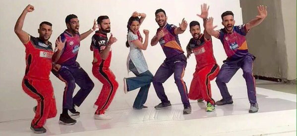 Kangna Ranaut, Kohli and Dhoni ad shoots for IPL 2016