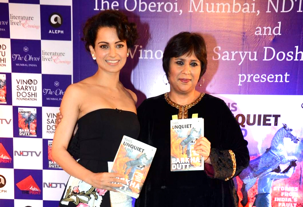 Kangna Ranaut Launches Barkha Dutts Book This Unquiet Land