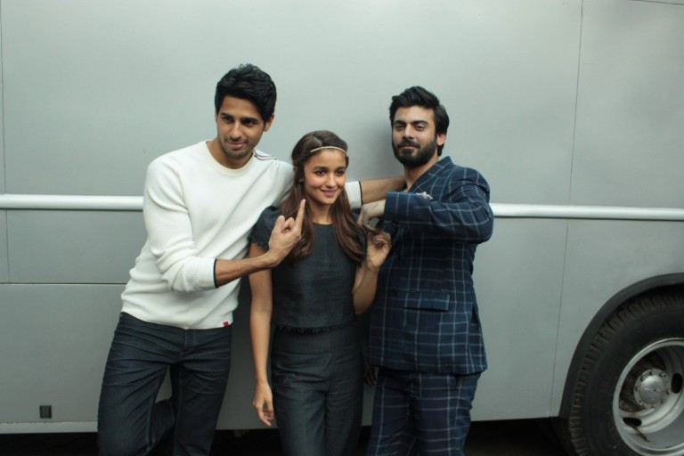 Kapoor & Sons Cast Members Spotted at Mehboob Studio