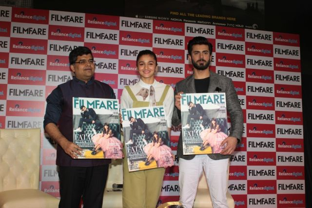 Kapoor & Sons : Fawad and Alia Launches Filmfare Magazine Cover