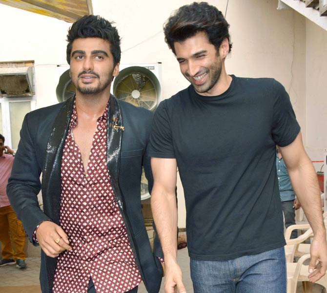 Karan Johar, Aditya Roy Kapur & Ki And Ka Cast Spotted at Mehboob Studio