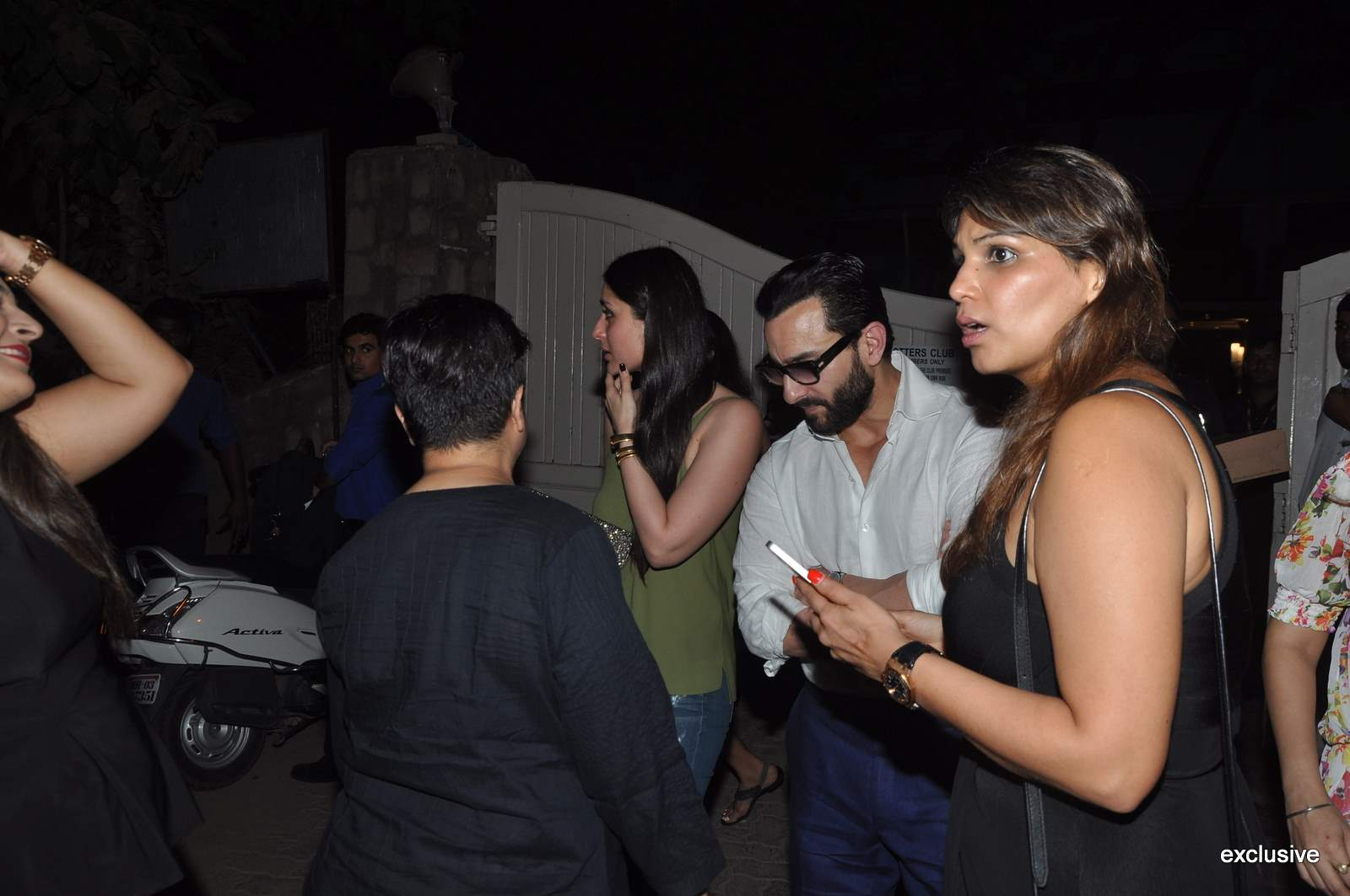 Kareena Kapoor & Saif Ali Khan Spotted Post Dinner At Otters Club