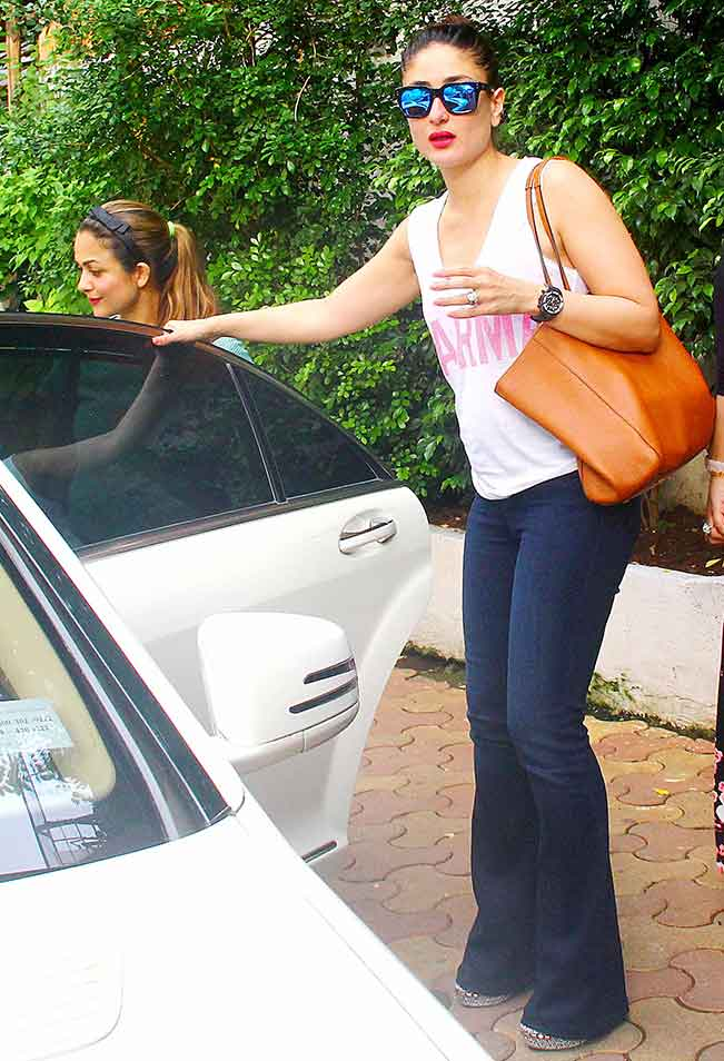 Kareena, Malaika & Amrita Spotted At Olive in Mumbai