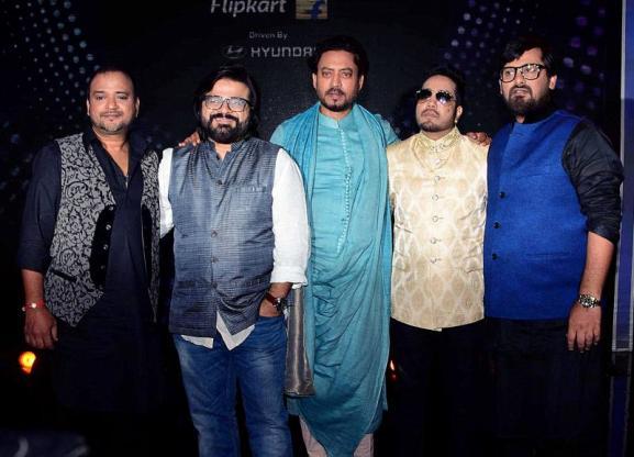 Irrfan Khan, Pritam Chakraborty, Mika Singh and Sajid Ali and Wajid Ali