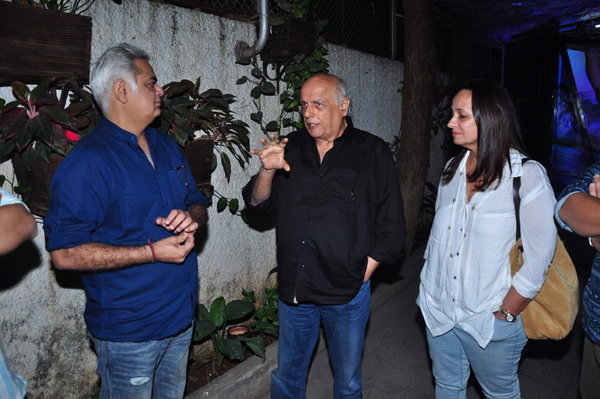 Mahesh Bhatt & Soni Razdan Special Screening of film Aligarh