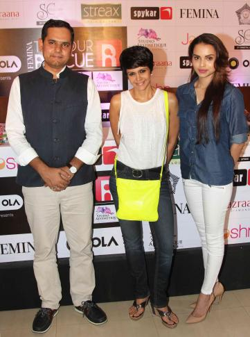 Mandira Bedi Launch of Femina To Your Rescue Mobile App