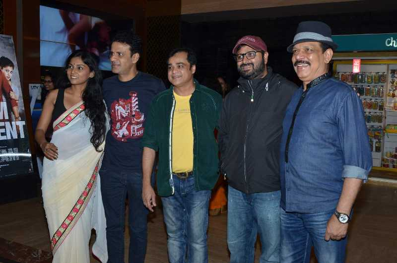Manoj Bajpai At A Premier of Marathi Film Manatlya Unhat in Mumbai
