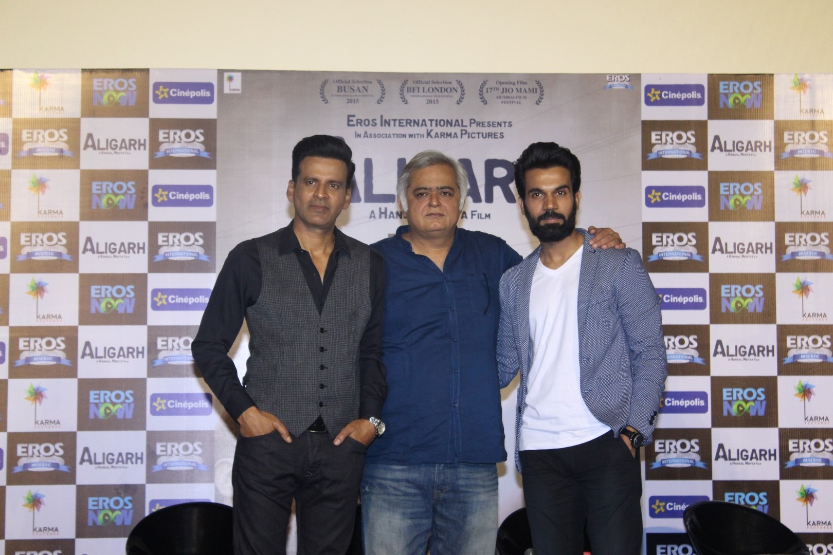 Manoj Bajpayee & Rajkumar Rao at Aligarh Movie Trailer Launch