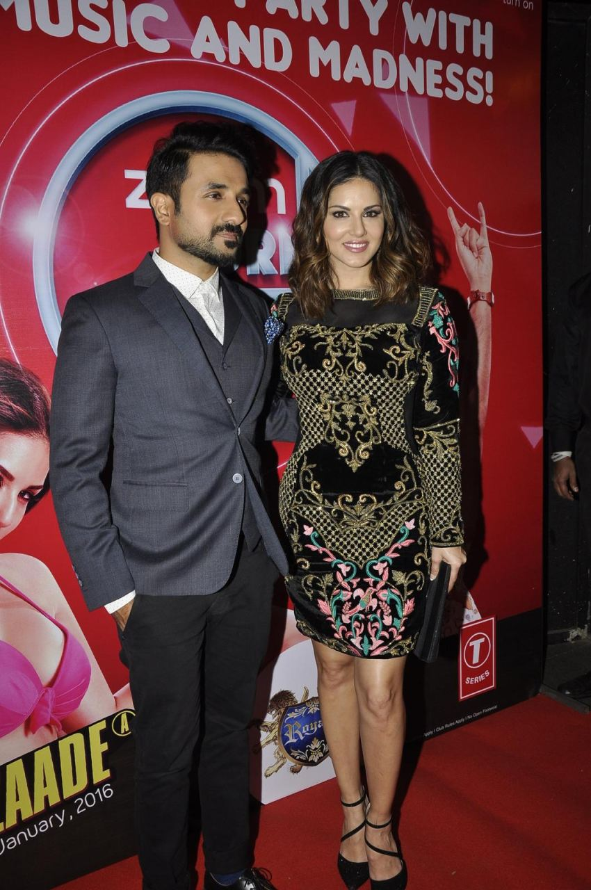 Mastizaade : Vir Das & Sunny Leone at 2nd Zoom Turn Nites Party in Mumbai