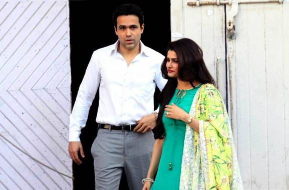 Nargis Fakhri, Emraan Hashmi and Prachi Desai on the sets of film Azhar