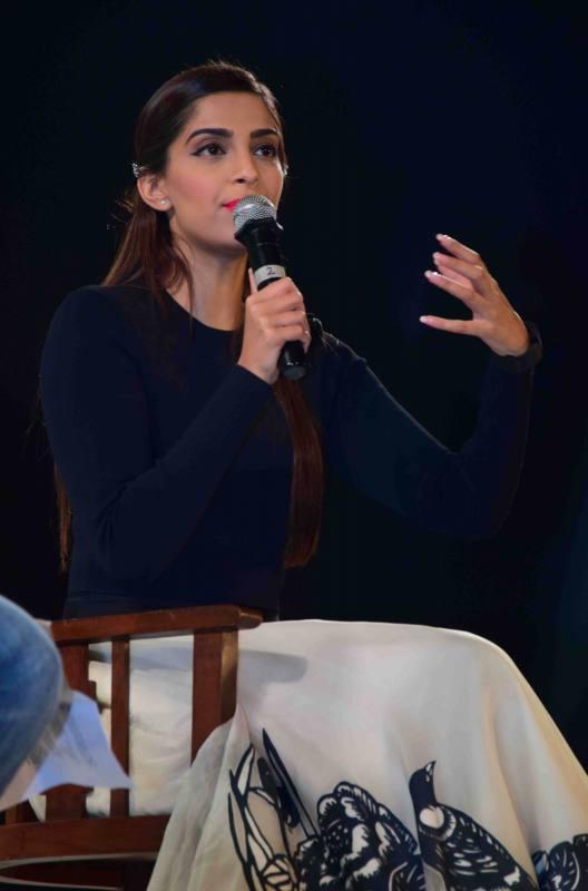 Sonam Kapoor Attends Kala Ghoda Arts Festival 2016-17