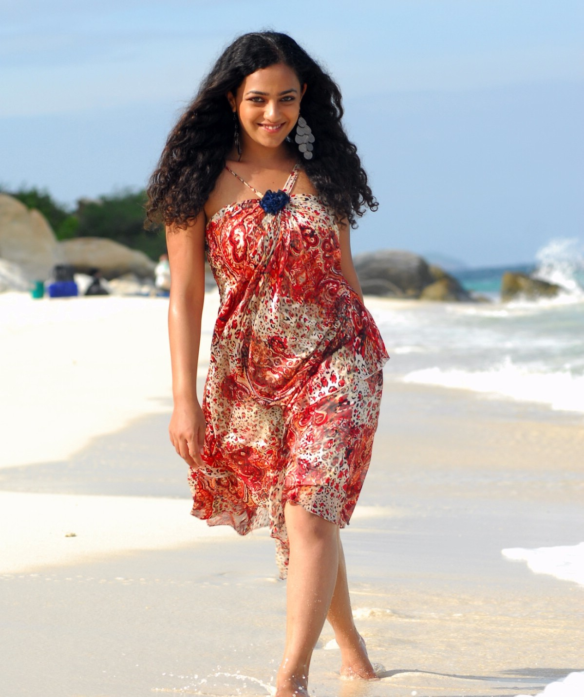 Nithya Menon In Beach Photo Shoot