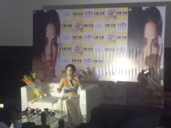 One Night Stand : Sunny Leone  at a press conference in Jaipur
