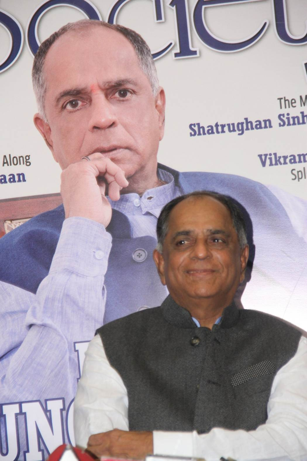 Pahlaj Nihalani Launches Society Magazine Cover in Mumbai
