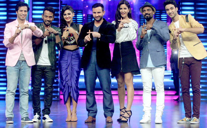 Phantom : Saif & Katrina On The Sets Of Dance Plus Show