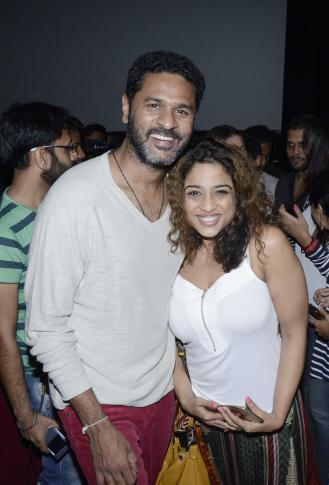 Prabhu Deva and Amy Jackson visit Theater to Promoted film Singh Is Bling