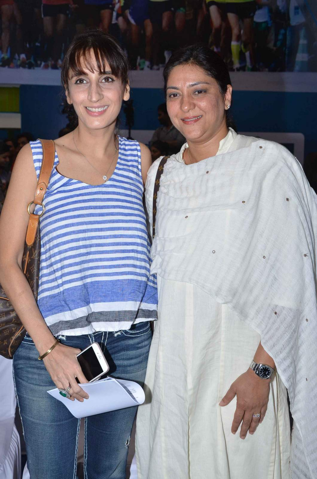 Priya Dutt and Farah Khan Ali at Marathon Press Meet