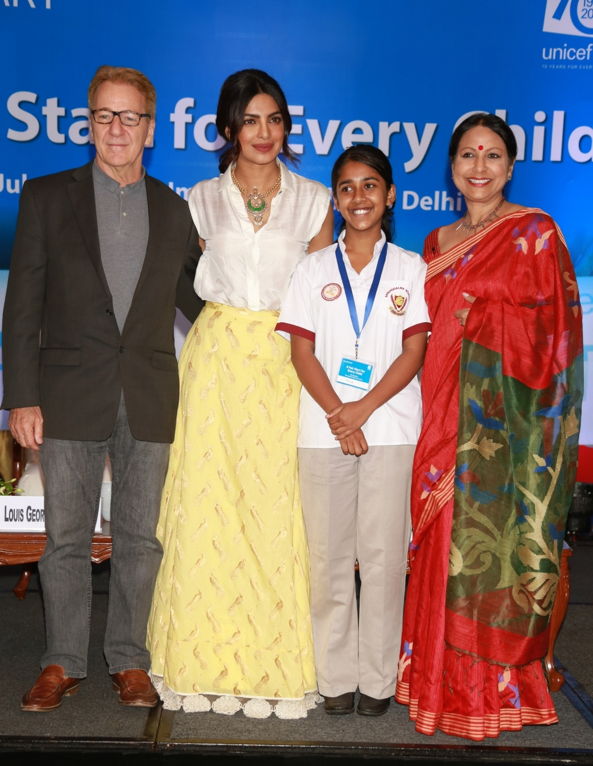 Priyanka Chopra Attends the UNICEF Event in New Delhi