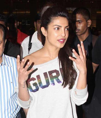 Priyanka Chopra New Photos in Grey T-Shirt